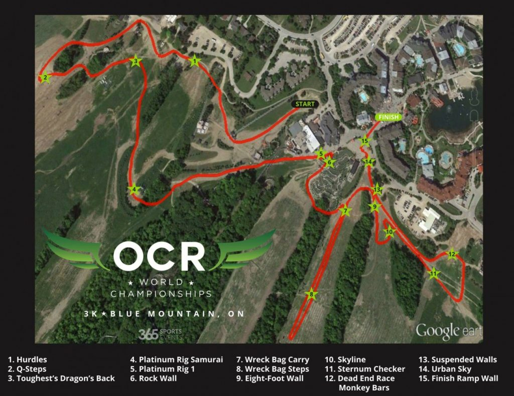 OCR World Championships 3k Map